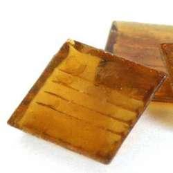 Pâte de verre mosaique transparente miel