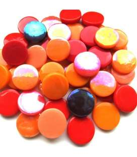 pastille 18/20mm mélange rouge