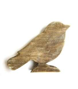 Support oiseau bois