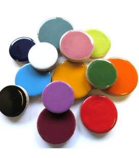 pastilles céramique multicolores