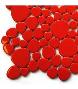 galet japonais rouge coquelicot