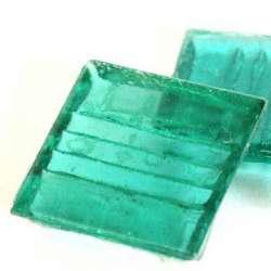 Pâte de verre mosaique transparente menthe