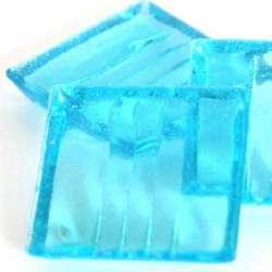 Pâte de verre mosaique transparente bleu clair