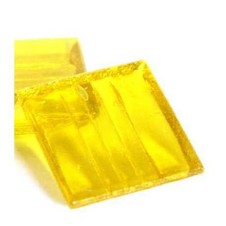 Pâte de verre mosaique transparente jaune