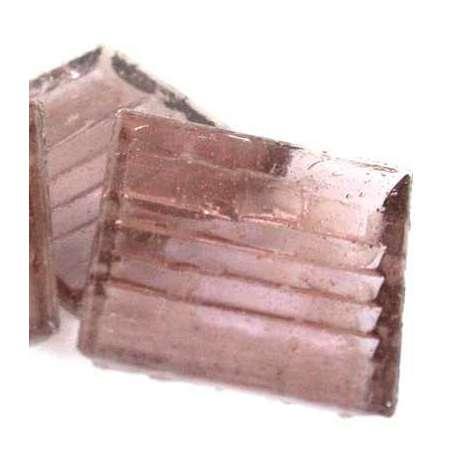 Pâte de verre mosaique transparente rose
