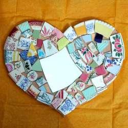 Kit mosaique Coeur vaisselle
