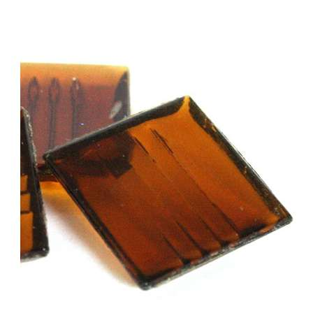 Pâte de verre mosaique transparente ambre