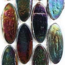 Calissons de verre irrisés mer noire soldés -25%