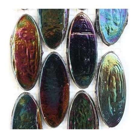 Calissons de verre irrisés mer noire