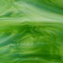 Verre vert profond veiné jardin secret très légèrement transparent