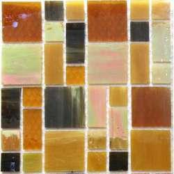 Rectangles et carrés de verre sepia dernières pièces -30%