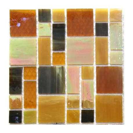 Rectangles et carrés de verre sepia