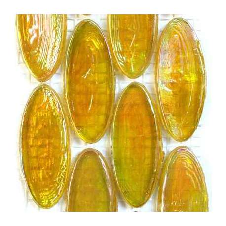 Calissons de verre irrisés Côte d'or