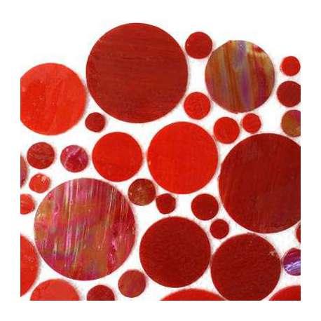 Cercles de verre rouge