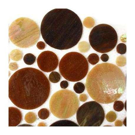 Cercles de verre brun