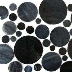 Cercles de verre charbon