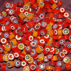 Millefiori mix opaque orange