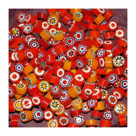 Millefiori opaque orange
