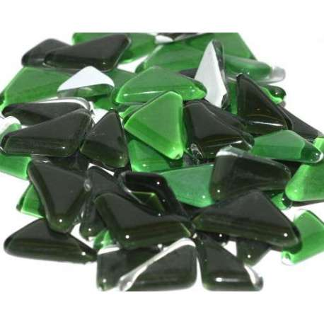 Galets de verre coloré vert foncé
