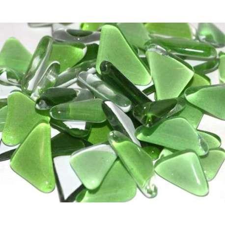 Galets de verre coloré Hosta (vert clair)