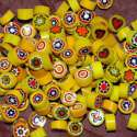 Millefiori opaque jaune