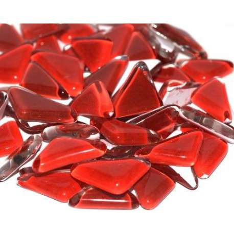 Galets de verre coloré rouge