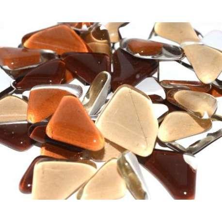 Galets de verre coloré chocolat