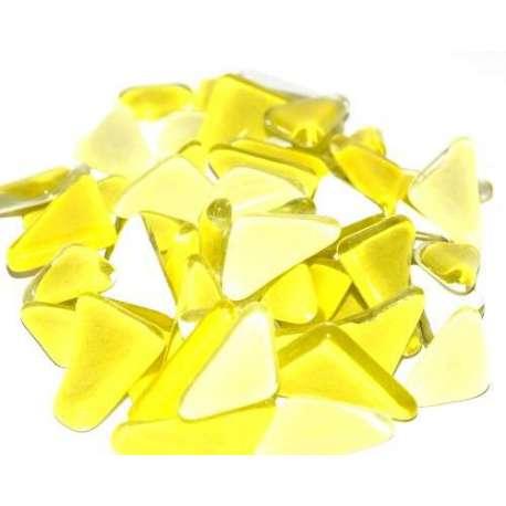 Galets de verre coloré jaune citron