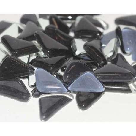 Galets de verre coloré noir
