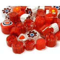Millefiori mix translucide rouge